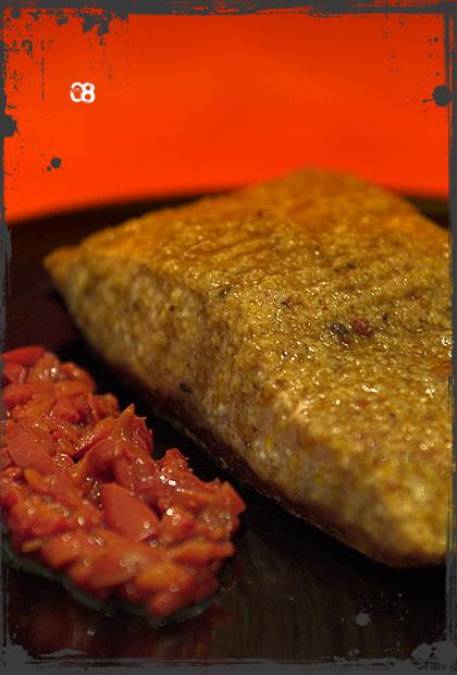 Filetto di salmone speziato