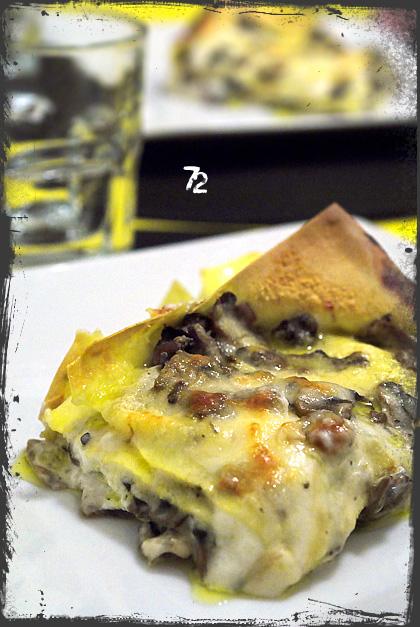 Lasagne con robiola e funghi