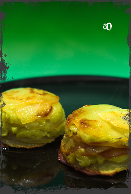 Tortini di patate e porri alforno